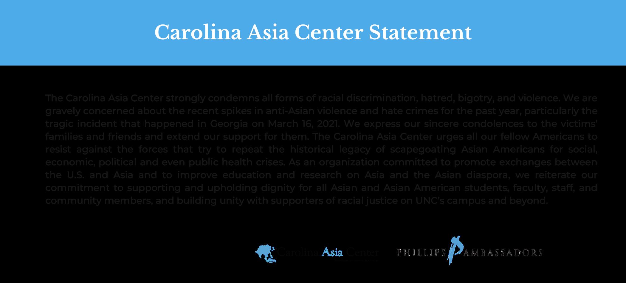 Statement on Violence