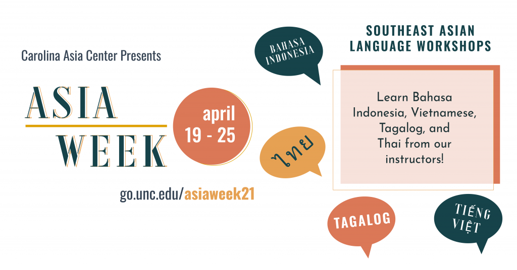CAC Asia Week Southeast Language Workshops